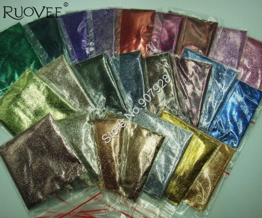 24 цвета металлик, 0,2 мм, 008 дюймов, блеск для ногтей, пудра для дизайна ногтей, сделай сам, аксессуары для лица, косметические Блестки для рукоделия, украшения