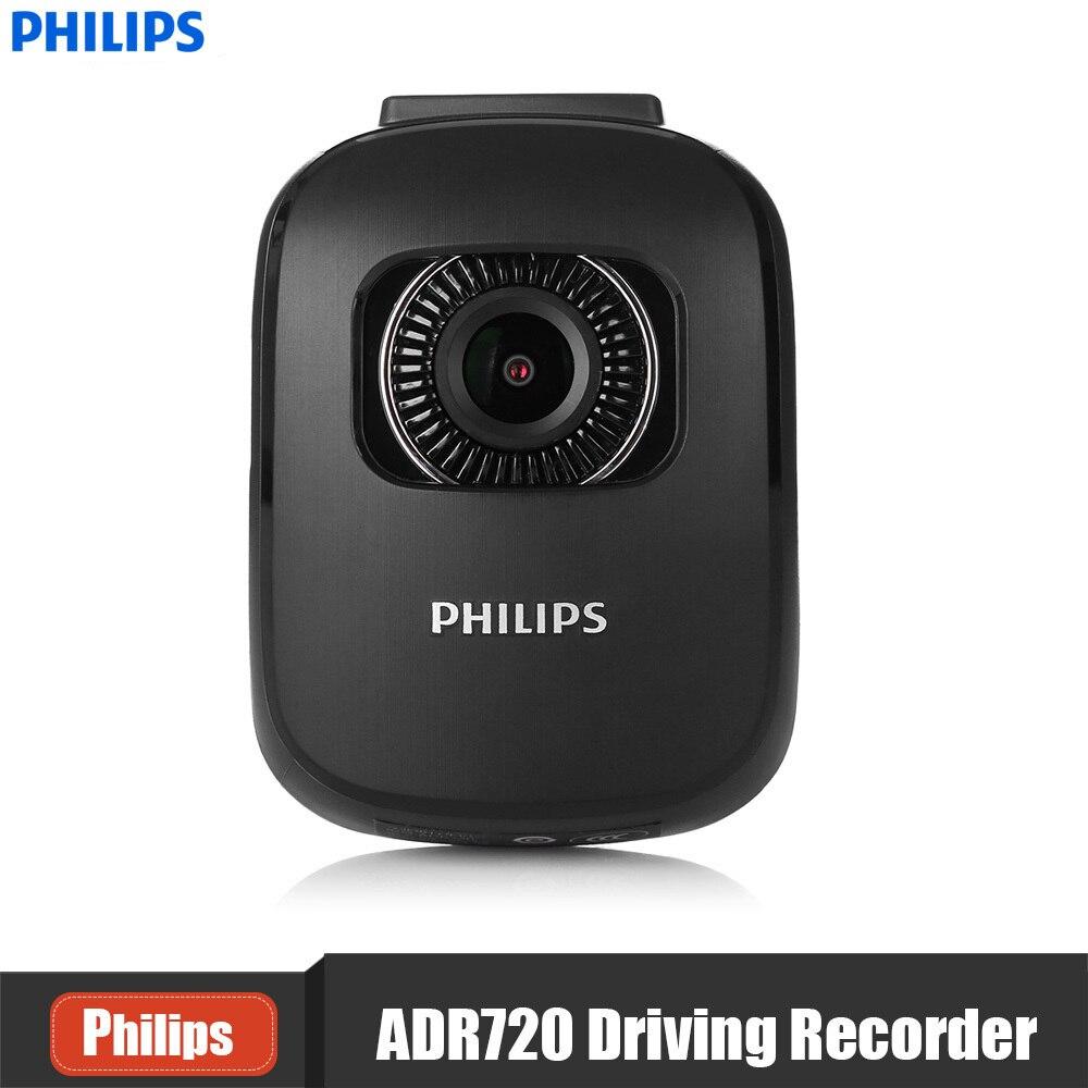 Philips ADR720 автомобиля регистраторы 2 дюймов 1440 P 140 градусов Широкий Ангел DVR G-Сенсор Max 128 г sd-карта вождение автомобиля Регистраторы