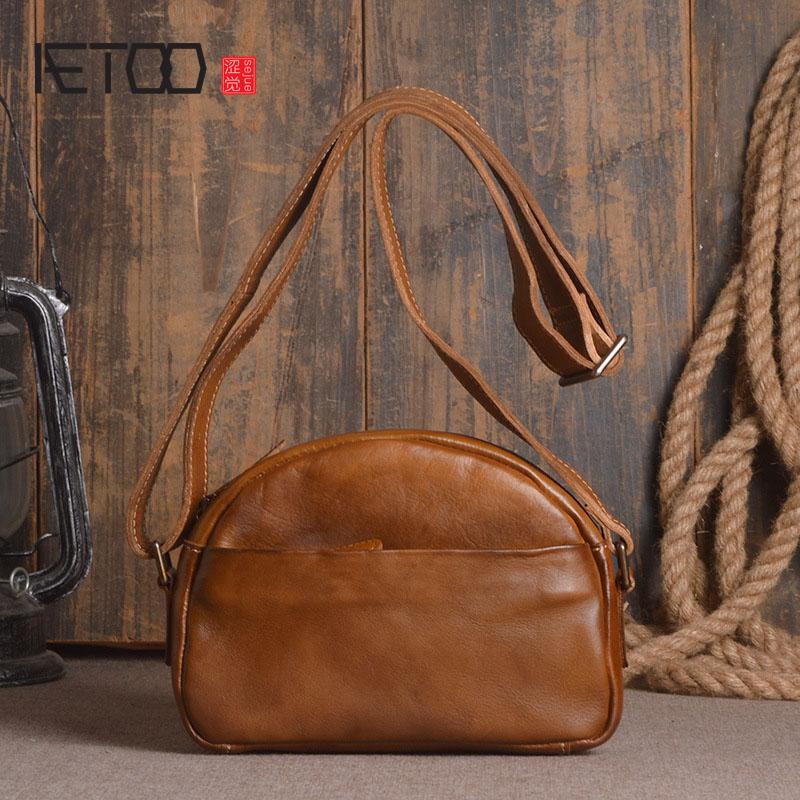 AETOO Neue damen leder schultertasche gerbung hand farbe umhängetasche mode shell paket-in Taschen mit Griff oben aus Gepäck & Taschen bei  Gruppe 1