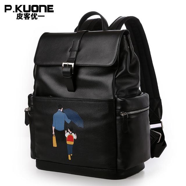 Aliexpress.com : Buy P.KUONE 2018 Fashion Men's Genuine Leather ...