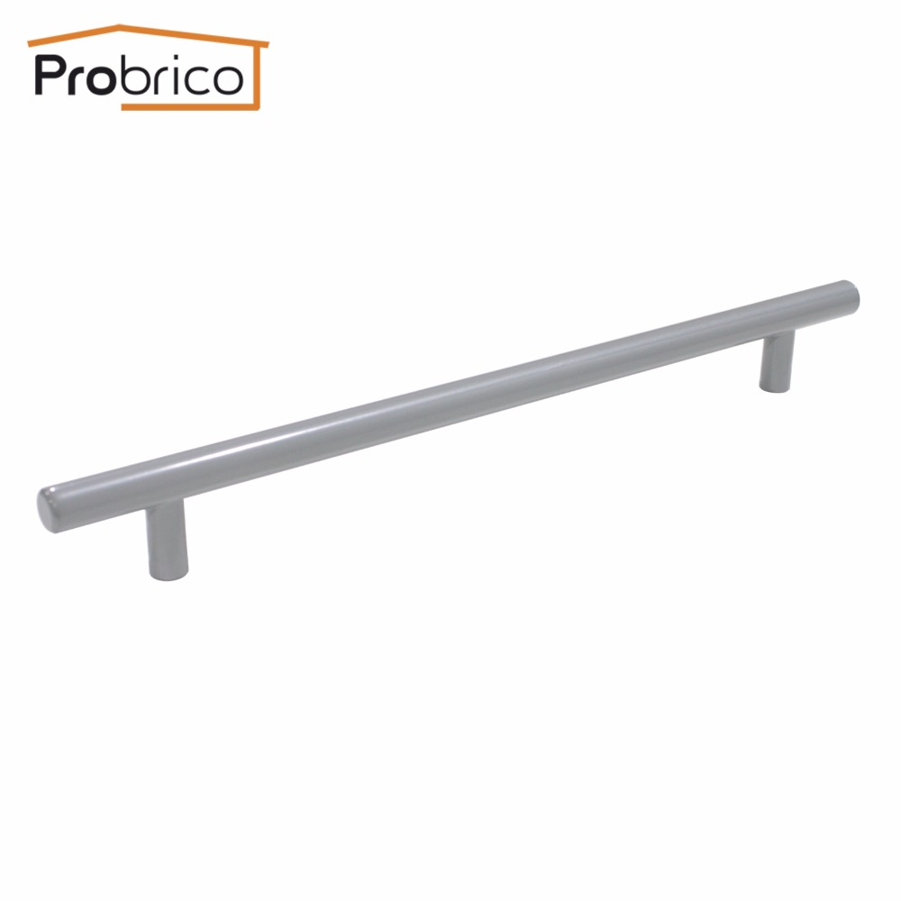 Probrico Grey Stainless Steel Kitchen Cabinet Handle Diameter 12mm Hole to Hole 224mm Furniture Drawer Knob Pull PD201HGY224 вьетнамки steel grey