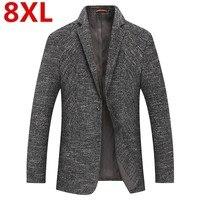2018 Большие размеры 8XL 7X Новое поступление брендовая одежда куртка весна пиджак Для мужчин Блейзер Мода тонкий мужской костюмы Повседневное