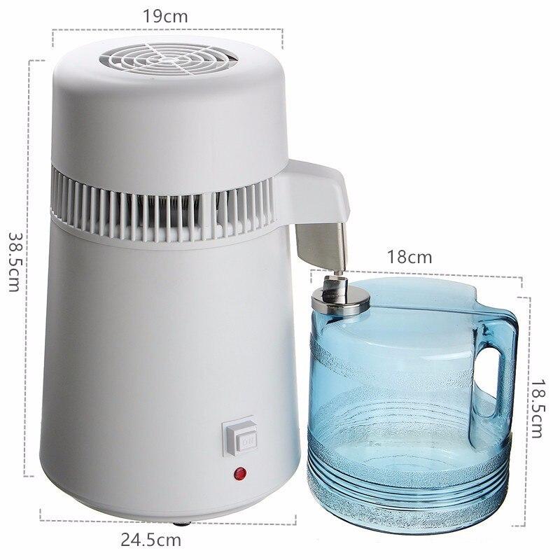 110 V/220 V 750W 4L eau Pure distillateur eau purificateur conteneur acier inoxydable filtre à eau dispositif ménage eau distillée - 5
