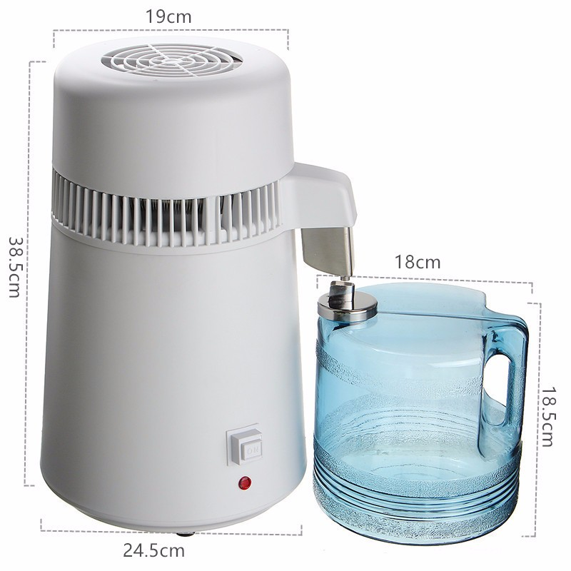 110V/220V 750W 4L Pure Water Distiller Water Purifier Container Stainless Steel Water Filter Device Household Distilled Water - 5