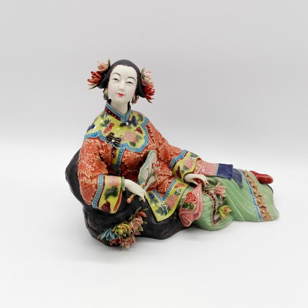 Christmas Antique Chinese Porcelain Figurine Home Decor