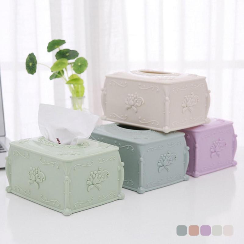 1pc Towel Storage European Stylish Elegant Tissue Box Holder For Home Office Car #30
