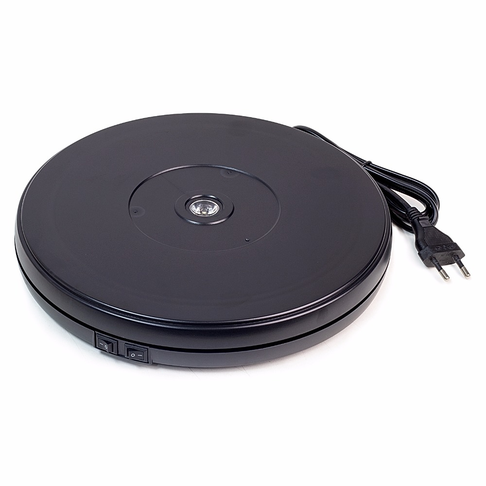25cm Black Diameter electric Rotary Heavy Duty Rotating Display Stand Rotary motorized turntable with LED Light-in EL Products from Electronic Components & Supplies    1