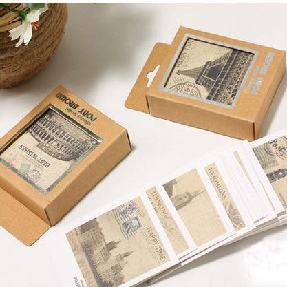 Free ship10box400pc creative stationery world scenery greeting creative stationery world scenery greeting card m4hsunfo