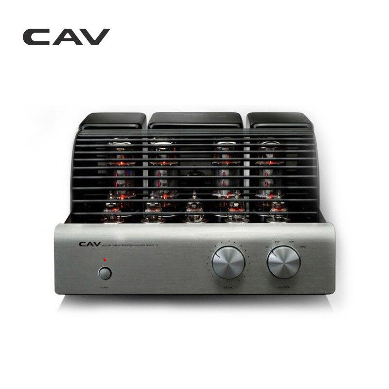 Электрические плиты CAV T-5 трубки усилители домашние высокое качество производства ЦАП HIFI аудио для колонки 20 Вт канала 2,0 high Fidelity мощность (Фото 1)