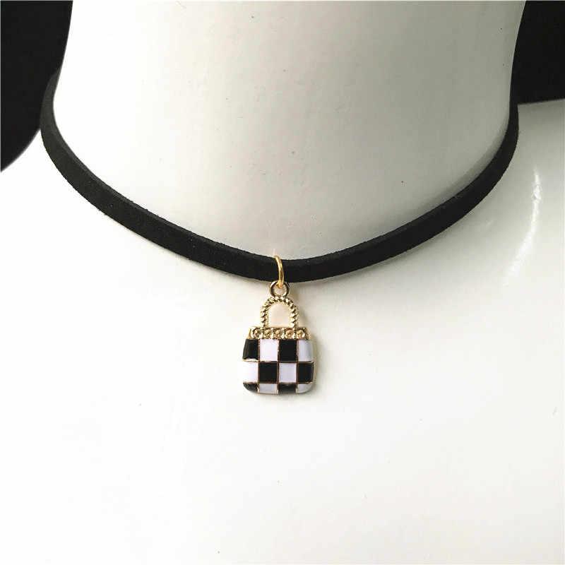 Nowy gotycki naszyjnik naszyjniki dla kobiet czarny koronkowy naszyjnik biżuteria moda stop wisiorek akcesoria na szyję dziewczyna prezent hurtownia