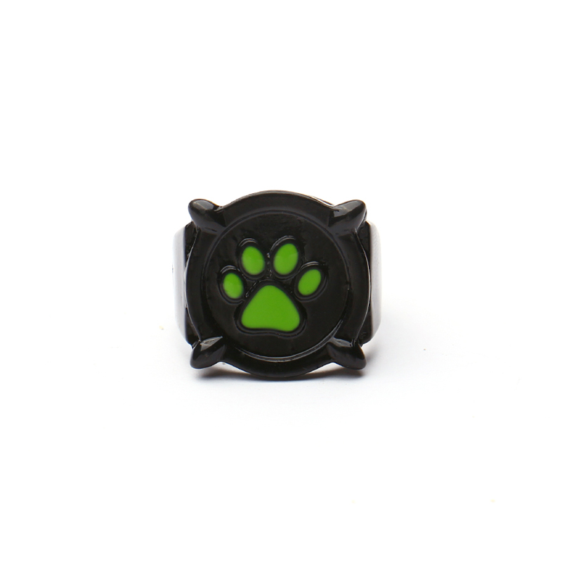 Size 5-11 Cat Noir ring Anime Jewelry Black Ring Cosplay Costume for Kids Halloween Christmas Gift Ladybug Rings for Women Men(China)