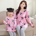 Family Style Set Leisure Wear Pajamas Family Clothing Parent-Child Set Mother and Daughter Home Clothes Family Clothing Set FF26