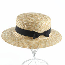 2019 Parent Child Summer Natural Straw Hat Bowknot Flat Top Sun Hats For Women Beach Panama S,L Size