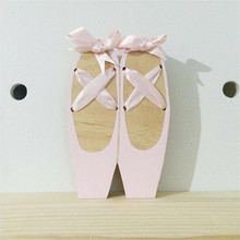 INS Nordic Style Wooden Ballet Shoes Ornaments For Baby Kids Room Decorations Nursery Wall Decor Photography Props Girls Gifts