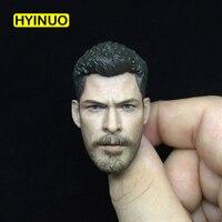1/6 Scale Ragnarok Gladiator Chris Hemsworth Head Sculpt Headplay for 12 Action Figure Body