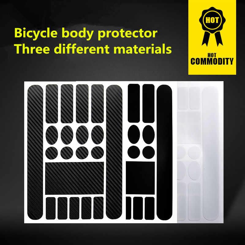Proteger Cadeia Adesivos Estrada Quadro Da Bicicleta Dobrável de Mountain Bike Garfo Dianteiro Protective Film Anti-scratch Etiqueta De Couro