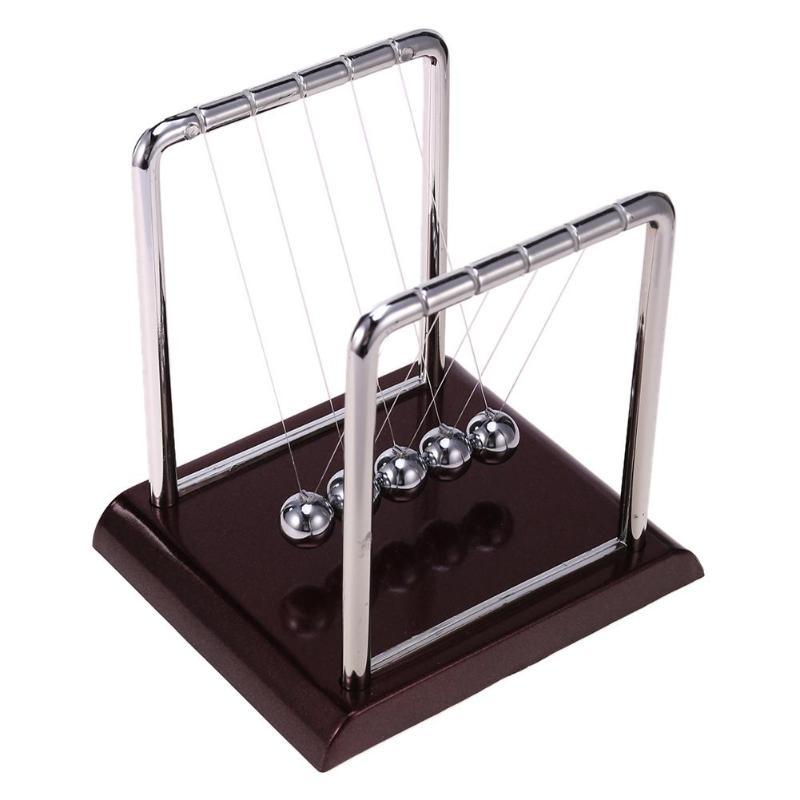 Balance Ball Steel Cradle Physics Science Pendulum Fun Desk Toy Gift