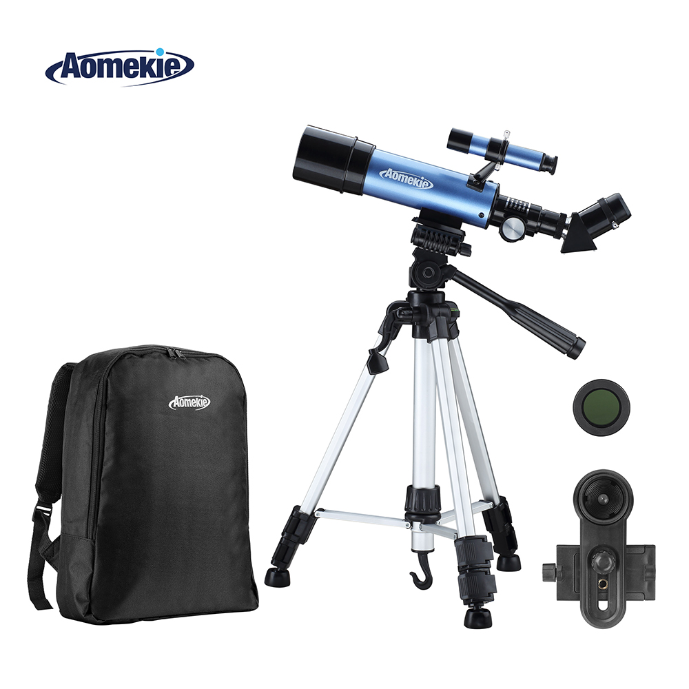 AOMEKIE 36050 Telescope with Adjustable High Tripod Backpack 100X Moon Watching Terrestrial Space Erecting Image Monocular