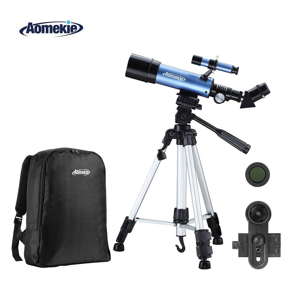 AOMEKIE 50mm Lentille Télescope avec Réglable Haute Trépied Sac À Dos Lune Regarder L'espace Terrestre Ériger Image Monoculaire Cadeau