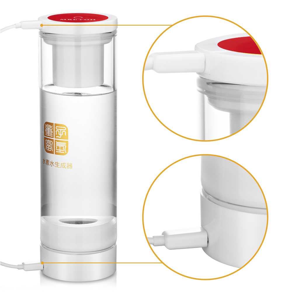 Molecular Resonance water MRET OH 7.8Hz and Pure H2 Hydrogen rich Water Bottle Electrolysis Hydrogen generator USB Rechargeable