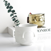 Ceramic Decoration Vase Multifaceted Face Series Small Vase Flower Soft Home Decoration Desktop Storage Bottle