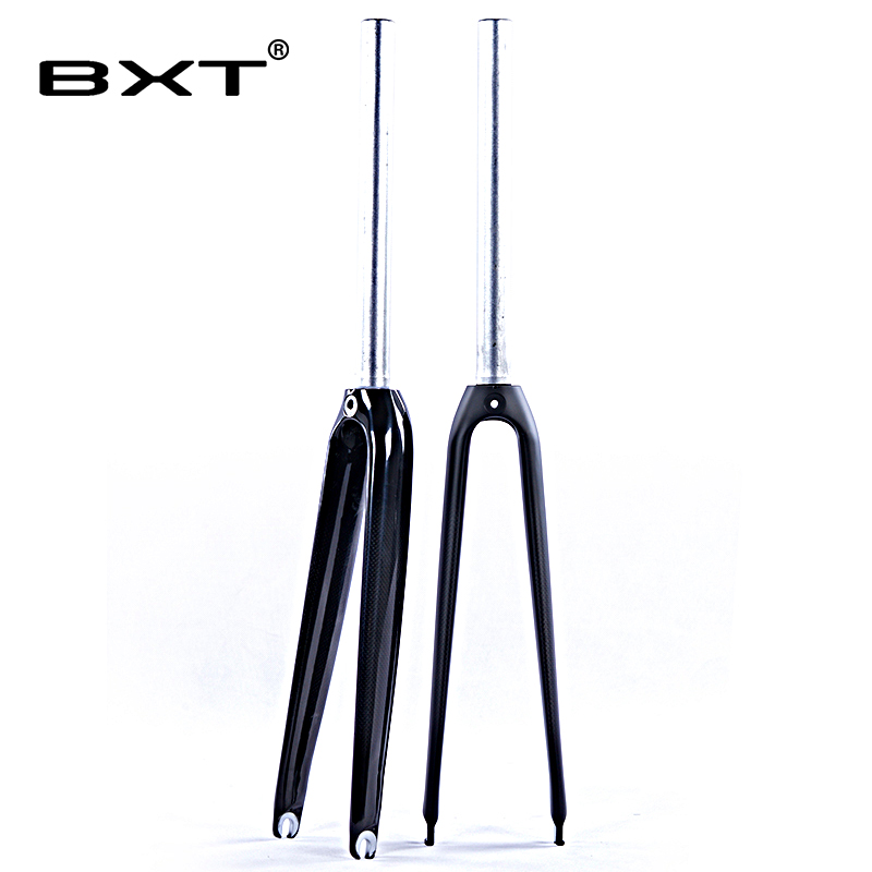 Road bicycle fork alloy Carbon Fork 700C 1-1/8 matt/glossy V Brake used racing bicycle part carbon fiber road bike fork