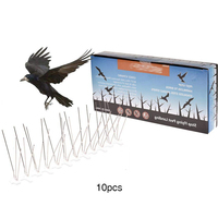 10Pcs 3m Plastic Steel Bird Spikes Eco Friendly Anti Pigeon Nail Bird Deterrent Tool For Pigeons Owl Small Birds Fence