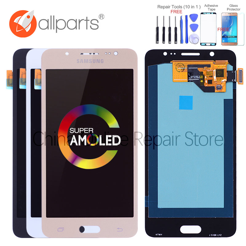 ORIGINAL 5.2'' Super AMOLED LCD for SAMSUNG Galaxy J5 2016 LCD Display J510 J510F J510FN J510M Touch Screen Digitizer