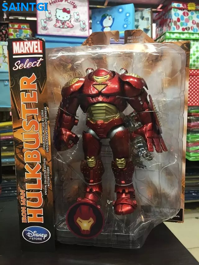 SAINTGI Marvel Select Avengers Iron Man Figure Hulkbuster Super Heroes PVC Animated Action Figure Collection Model Toys marvel super heroes avengers wonda iron man mk anti hulkbuster thor vision ultron assemble building blocks minifig kids toys
