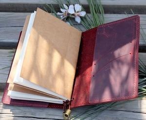 Image 4 - Alice Story 100% Genuine Leather Multi Function Travelers Notebook Diary Journal Vintage Handmade Cowhide Notebook Planner