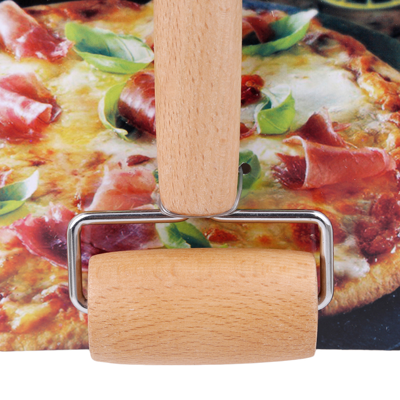 Openhartig Keuken Gadget Koken Gereedschap Hout Gebak Pizza Roller Handdle Deegroller Keuken Eetkamer Bar Bakvormen Rolling Pins