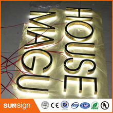 taobao rose gold stainless steel backlit led letters popular brushed stainless steel led backlit house numbers