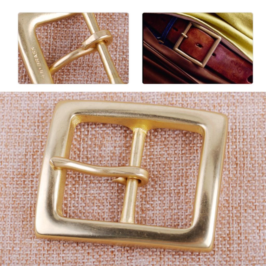 1.5 Inch DIY Solid Brass Belt Bucket Golden Square Shape Replacement Part
