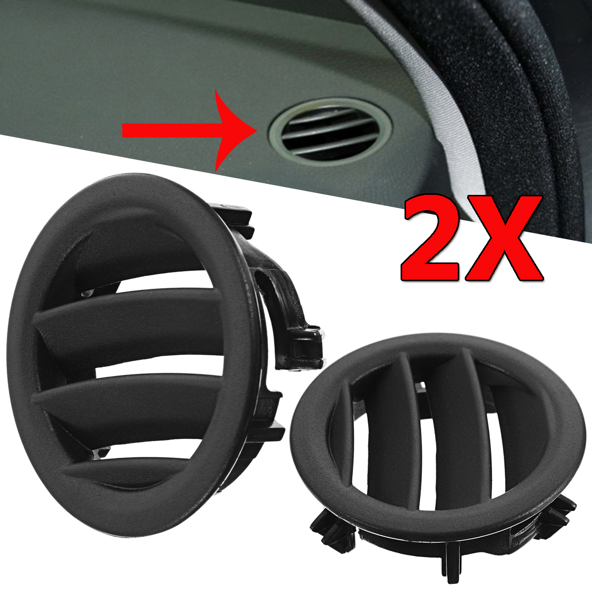 Left/Right Air Ac Vent For <font><b>Mercedes</b></font> W204 <font><b>C300</b></font> C350 C630 C Class 2008-2011 Air Conditioning Vents Trim Covers Black Car-styling image