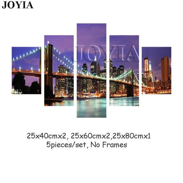 Tienda Online 5 unidades pared Nueva York noche pintura Cuadros ...