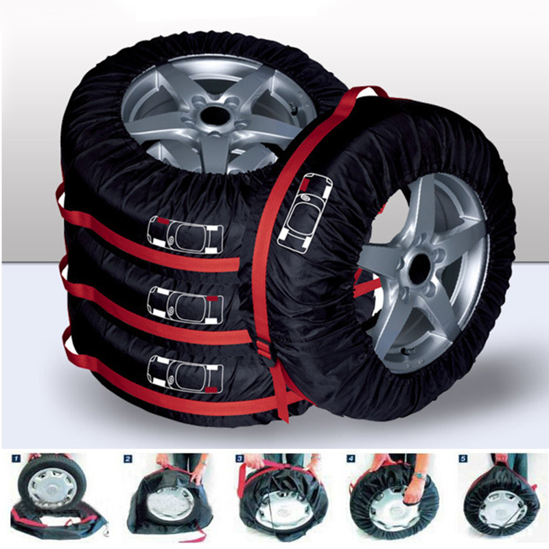 £DiscountStorage-Bag Tyre-Cover Tire Dust-Proof-Protector-Accessories for Polyester