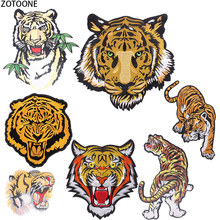 ZOTOONE Big Tigers Back Patch on Clothing Vintage Iron Patches for Clothes Appliques Punk Print T-shirt DIY Applications E