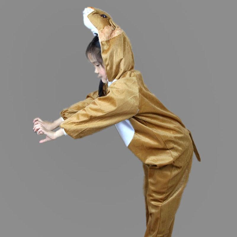 Umorden Barn Barn Toddler Pajama Tecknad Djur Lion Kostym Prestanda - Maskeradkläder och utklädnad - Foto 4