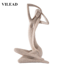 VILEAD Nude Woman Figurine Naked Statuettes Undressed Miniatures Vintage Home Decor for Office Chritsmas New Year Gift
