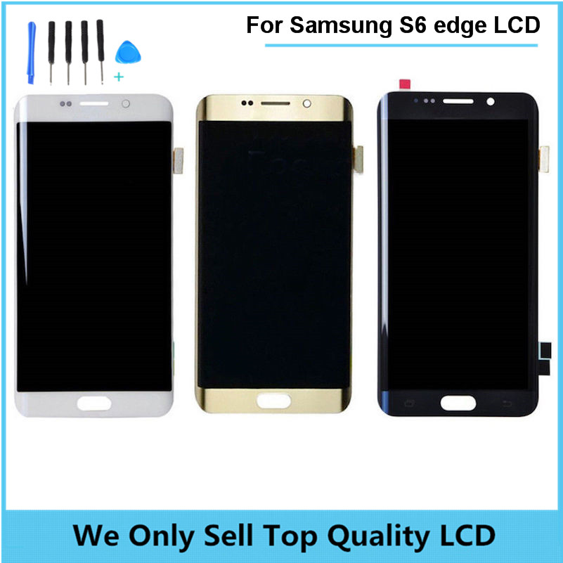 Original for SAMSUNG GALAXY S6 EDGE G925F G925A G925T G925V LCD Display Touch Screen Digitizer Assembly Free Shipping 2pcs/lot factory price lcd screen for samsung galaxy s6 edge lcd display touch screen digitizer g925f g925s g925p g925a free shipping