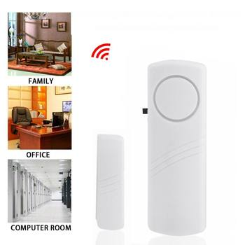 Door Window Wireless Burglar Alarm with Magnetic Sensor Home Safety Wireless Longer System Security Device White Wholesale Sensor & Detector