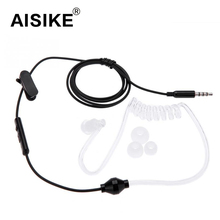 High Quality Spring Earphone Stereo 3.5mm Anti Radiation Earphones Game Music Air Spring Duct Headset For IPhone Samsung