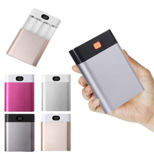 Portable LCD DIY Power Bank Box Dual USB 4X18650 Battery Charger 5V/2A Powerbank Case For Samsung For Phone 5 6s Charger Case& стоимость