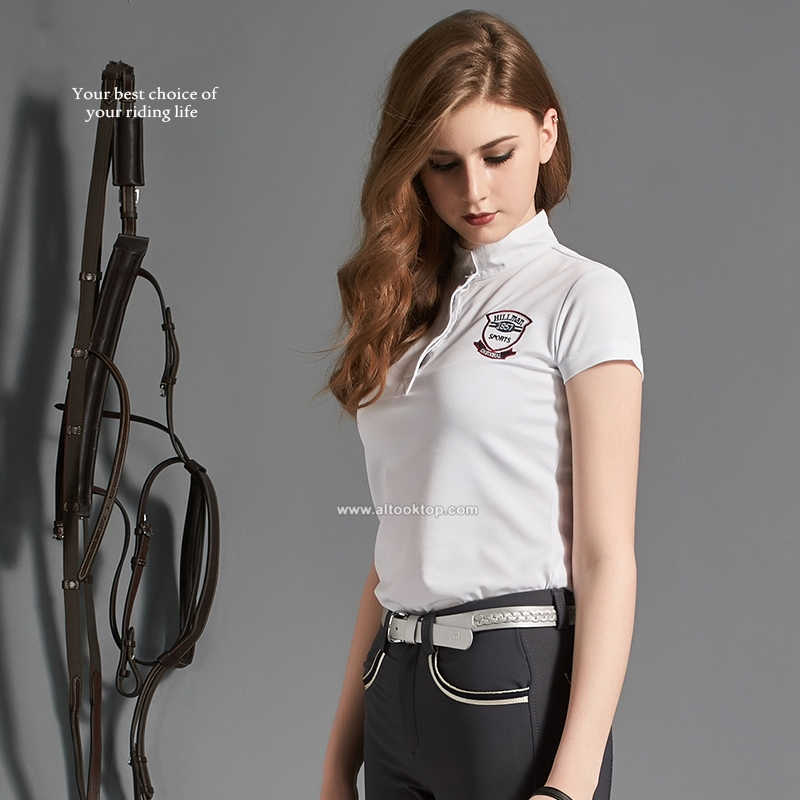 4becde457 ... Fashion men women horse riding shirts equitacion equitation  professional English riding T shirt equestrian tops Polo ...