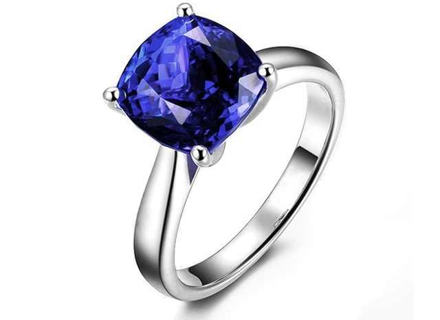 Brand new 3 carat 925 sterling silver ring tanzanite diamant ring simple and fashion sapphire ring US size from 4.5 to 9
