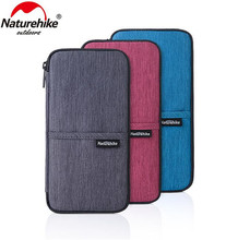 Naturehike Multifunctional Travel Wallet Bag For Cash Passport Cards 3 Colors Hiking Sports Outdoor Wrist