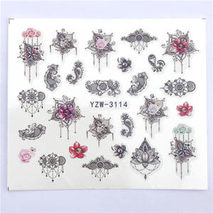 Image 5 - YWK 1 Sheet Pink Flower Water Transfer Slider for Manicure Nail Art Decoration Nail Sticker