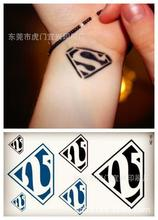 Body Art Waterproof Temporary Tattoos For Men Women 3d Superman Logo Design Flash Tattoo Sticker HC1010