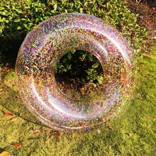 60/70/80/90cm/120cm Colorful Glitter Swimming Ring For Adult Children Inflatable Pool Tube Giant Float Boys Girl Water Fun Toys