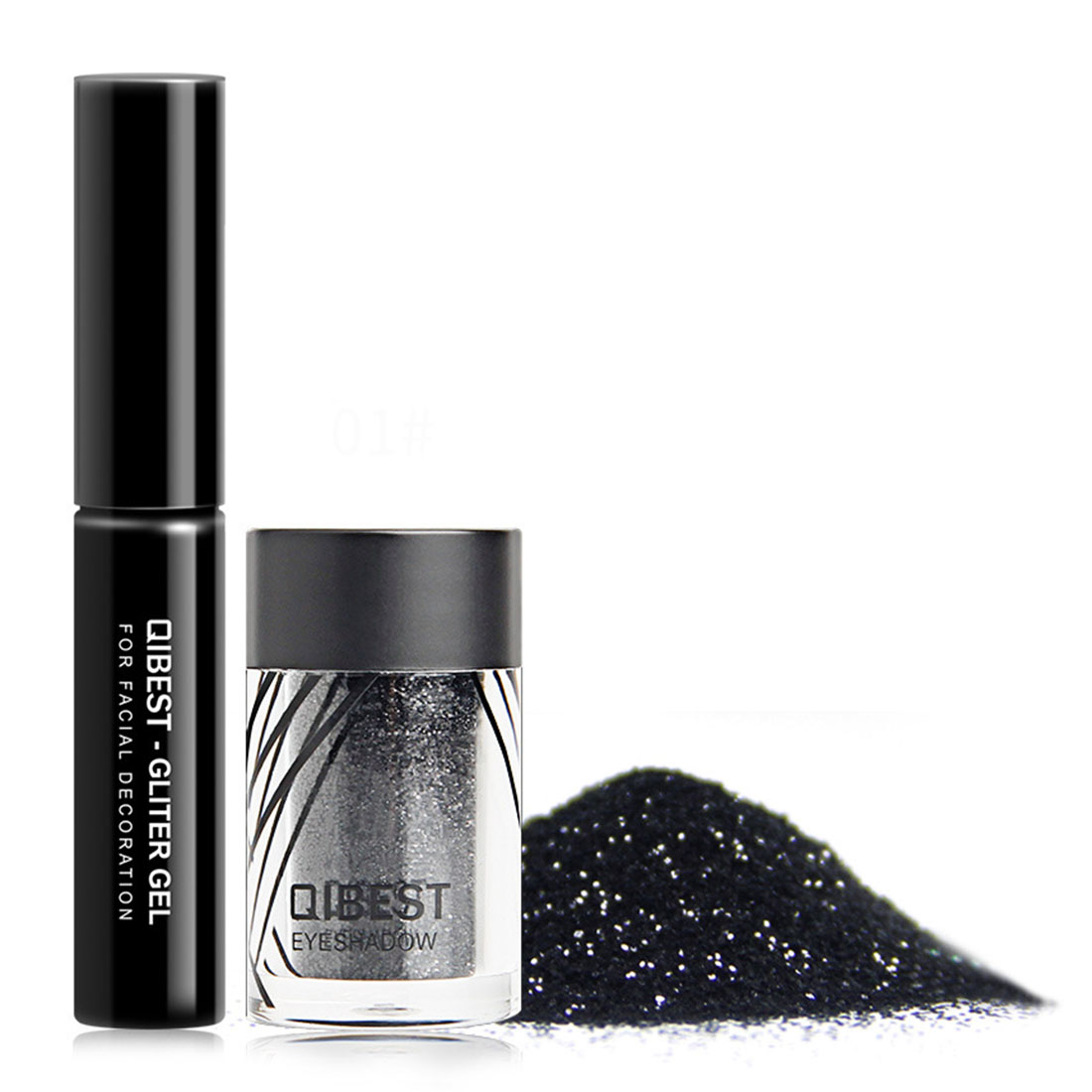 Beauty Essentials Have An Inquiring Mind Qibest Shimmer Glitter Powder Eye Shadow Face Eyes Lips Nails And Glue Waterproof Colorful Laser-makeup Brand Qibest #l18036 Elegant Shape